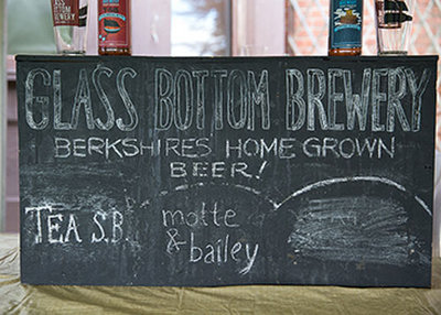 Sign Glass Bottom Brewery